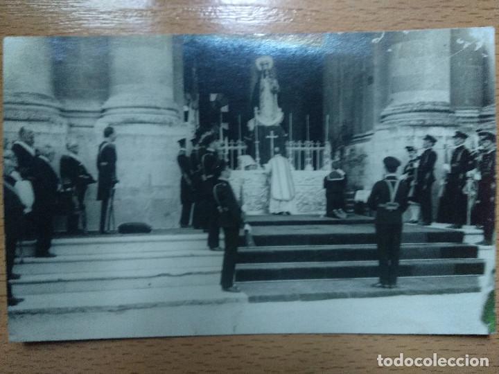 POSTAL FOTOGRAFICA. REY ALFONSO XIII. SAN FERNANDO, CADIZ. MISA VIRGEN..MILITAR.. (Postales - España - Andalucía Antigua (hasta 1939))