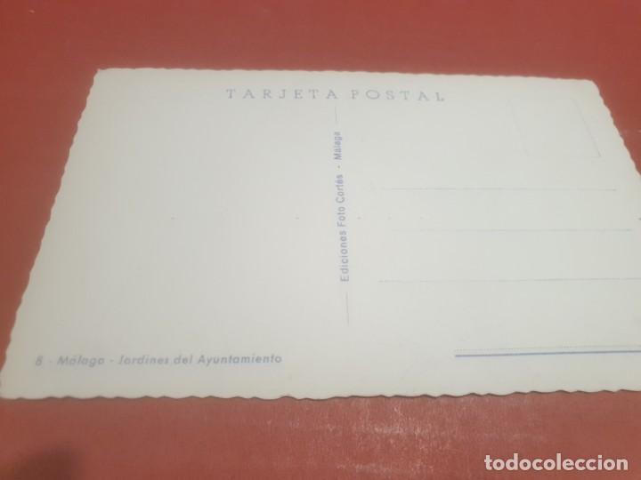 Postales: POSTALES....ANTIGUA POSTAL DE MALAGA..JARDINES DEL AYUNTAMIENTO... - Foto 2 - 195307416