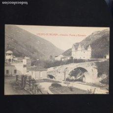 Postales: POSTAL CALDAS DE BESAYA ESTACION PUENTE Y BALNEARIO FOT CASTAÑEIRA NO INSCRITA NO CIRCULADA. Lote 195421081