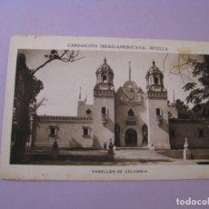 Postales: EXPOSICIÓN IBERO AMERICANA - SEVILLA. HUECOGRABADO MUMBRÚ. PABELLÓN DE COLOMBIA.. Lote 195457083