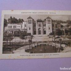 Postales: EXPOSICIÓN IBERO AMERICANA - SEVILLA. HUECOGRABADO MUMBRÚ. PABELLÓN DE ARTE ANTIGUO.. Lote 195457400