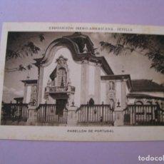 Postales: EXPOSICIÓN IBERO AMERICANA - SEVILLA. HUECOGRABADO MUMBRÚ. PABELLÓN DE PORTUGAL.. Lote 195457648