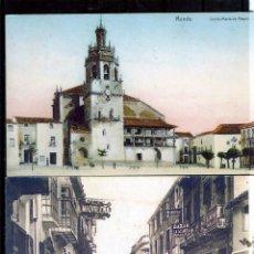 Postales: DOS POSTALES DE RONDA (MALAGA)-CON FICHA TECNICA DE SELLOS POR EL REVERSO .. Lote 195489528