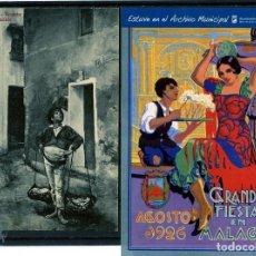 Postales: DOS TARJETAS DE MALAGA 1ª EDICIÓN DOMINGO DEL RIO 2ª FIESTAS DE MALAGA AÑO 1926 .. Lote 195490401