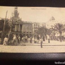 Postales: POSTAL DE CADIZ. HAUSER Y MENET. MADRID.SIN CIRCULAR PLAZA DE ISABEL II.. Lote 195515528