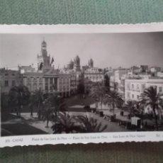 Postales: POSTAL CADIZ PLAZA DE SAN JUAN DE DIOS. Lote 195551040