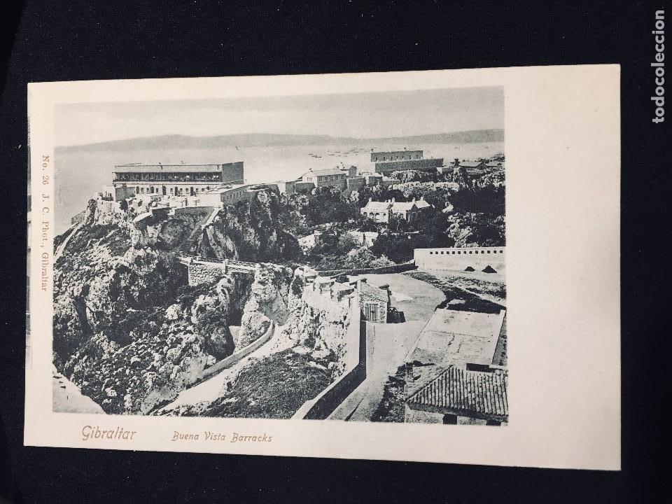 POSTAL GIBRALTAR BUENA VISTA BARRACKS N 26 J C PHOT NO INSCRITA NO CIRCULADA (Postales - España - Andalucía Antigua (hasta 1939))