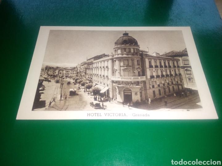 ANTIGUA POSTAL HOTEL VICTORIA DE GRANADA (Postales - España - Andalucía Antigua (hasta 1939))