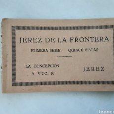 Postales: IMPORTANTE ÁLBUM POSTALES JEREZ DE LA FRONTERA LA CONCEPCIÓN A VICO PRIMERA SERIE 15 U UNIDADES. Lote 195970980