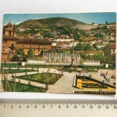Postales: POSTAL. GRANADA. JARDINES Y FUENTE MONUMENTAL DEL TRIUNFO. EDICIONES ARRIBAS.. Lote 199208006
