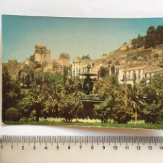 Postales: POSTAL. MALAGA. FUENTE DE LAS TRES GRACIAS Y ALCAZABA. EXCLUSIVA DE VENTA POSTAL MADRID.. Lote 199208121