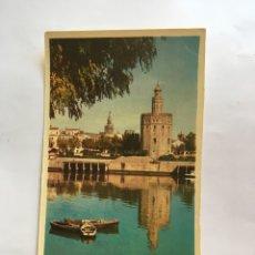 Postales: POSTAL. SEVILLA. TORRE DEL ORO. HELIOTIPIA ARTÍSTICA ESPAÑOLA.. Lote 199208188
