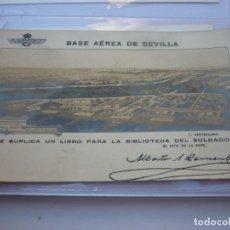 Postales: FOTOFRAFIA POSTAL DE LA BASE AEREA DE SEVILLA. AÑO 1927. SIN CIRCULAR. UNICA EN T.C.. Lote 199880678