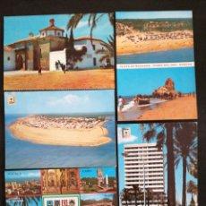 Postales: HUELVA, LOTE DE 5 POSTALES. Lote 200018700