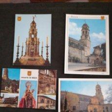 Postales: BAEZA, JAÉN. LOTE DE 4 POSTALES. Lote 200109613