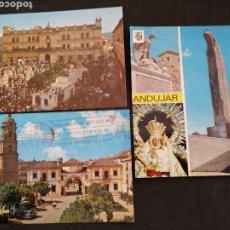Postales: ANDUJAR, JAÉN. LOTE DE TRES POSTALES. Lote 200112355