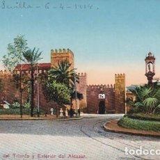 Cartoline: SEVILLA PLAZA DEL TRIUNFO EXTERIOR DEL ALCAZAR. ED. TOMAS SANZ . CIRCULADA EN 1914. Lote 200285460