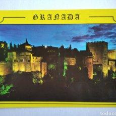 Postales: POSTAL GRANADA VISTA NOCTURNA DE LA ALHAMBRA EDICIONES ARRIBAS. Lote 200577407