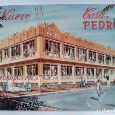 Cartes Postales: TARJETA POSTAL. MÁLAGA. EL PALO. RESTAURANTE CASA DE PEDRO. AÑO 1991. Lote 201860682