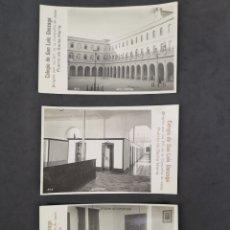 Postales: LOTE DE 3 FOTOGRAFÍAS POSTALES DEL COLEGIO DE SAN LUIS GONZÁGA. Lote 202475575