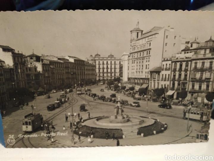 GRANADA - PUERTA REAL, CIRCULADA 1952,EDT MESA, segunda mano