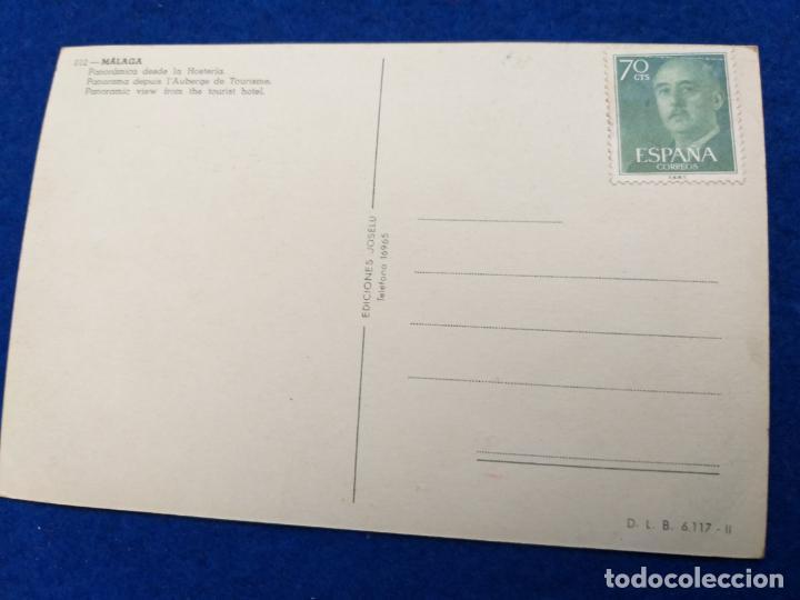 Postales: Postal de Málaga. # 012. Panoramica desde la hosteria. Sello de FRANCO - Foto 2 - 202975521