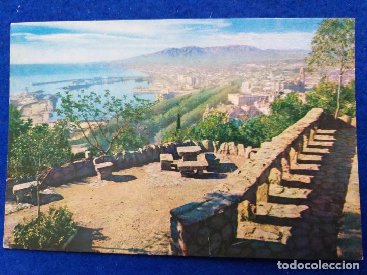 POSTAL DE MÁLAGA. # 012. PANORAMICA DESDE LA HOSTERIA. SELLO DE FRANCO (Postales - España - Andalucia Moderna (desde 1.940))