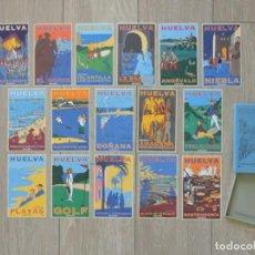 Postales: COLECCIÓN 16 POSTALES HUELVA - 1998 - PATRONATO DE TURISMO - DISEÑO MARINÉ / BOYER (VER MÁS IMÁGENES. Lote 204994741