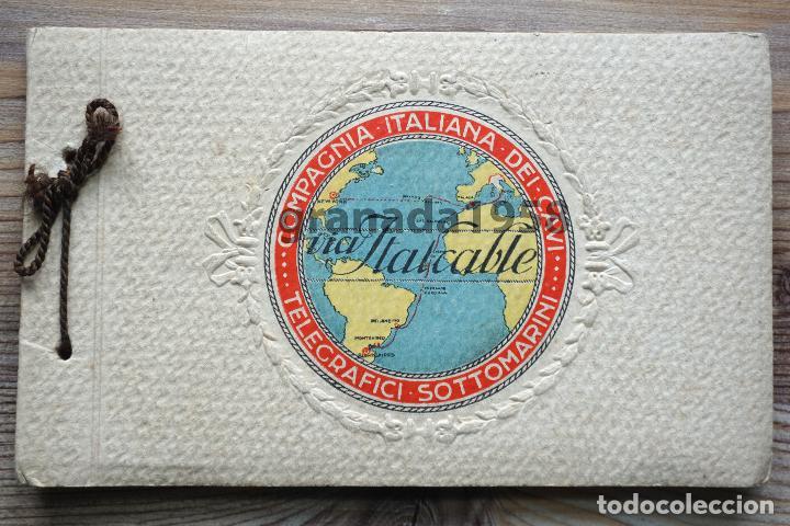 MÁLAGA. ITALCABLE. BLOC. TELÉGRAFO. CABLE SUBMARINO (Postales - España - Andalucía Antigua (hasta 1939))