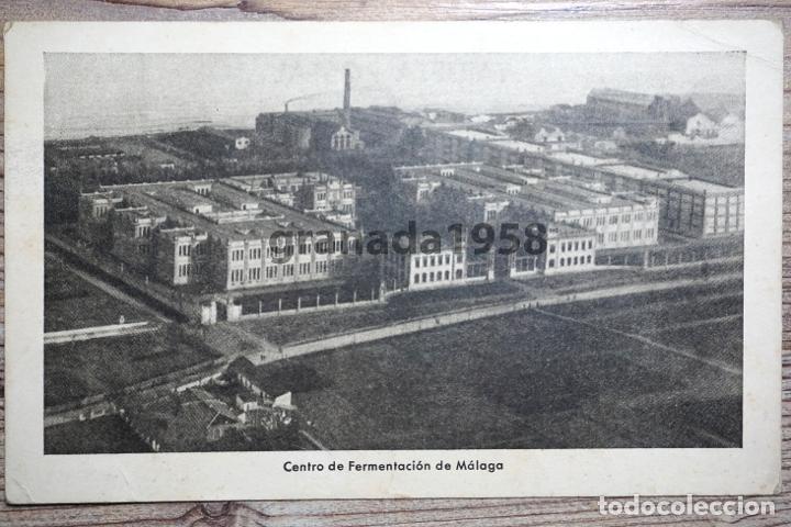 MÁLAGA. CENTRO DE FERMENTACIÓN. FÁBRICA DE TABACO. FOTO AÉREA. GUERRA CIVIL (Postales - España - Andalucía Antigua (hasta 1939))