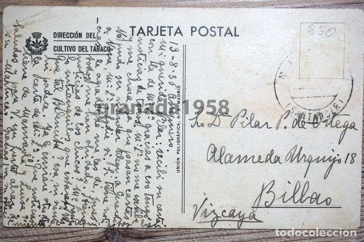 Postales: MÁLAGA. CENTRO DE FERMENTACIÓN. FÁBRICA DE TABACO. FOTO AÉREA. GUERRA CIVIL - Foto 2 - 205196588