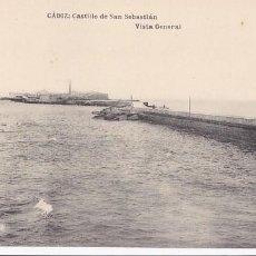 Postales: CADIZ CASTILLO DE SAN SEBASTIAN. ED. HAUSER Y MENET. SIN CIRCULAR. Lote 205299452