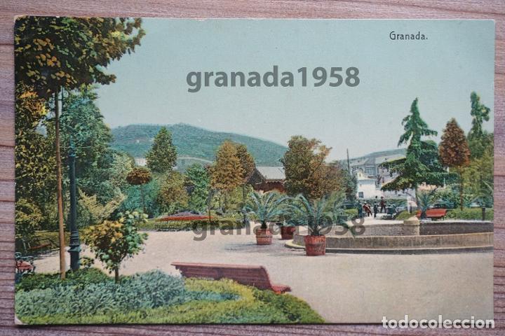 GRANADA. FUENTE DE LA BOMBA. JARDINES. PASEO DE LA BOMBA. KNACKSTEDT SERIE 754 Nª 105 (Postales - España - Andalucía Antigua (hasta 1939))