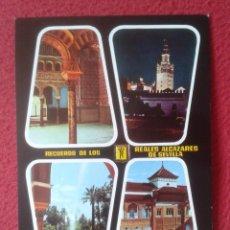 Postales: POST CARD Nº 39 SEVILLA SEVILLE SIVIGLIA RECUERDO DE LOS REALES ALCÁZARES VISTAS VER FOTO....SPAIN... Lote 205564413