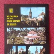 Postales: POST CARD Nº 38 SEVILLA SEVILLE SIVIGLIA RECUERDO DE LOS REALES ALCÁZARES VISTAS VER FOTO....SPAIN... Lote 205566072