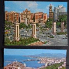 Postales: 3 POSTALES DE MALAGA CIRCULADAS, AÑOS 1967, 1964 Y 1976. Lote 205584597