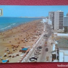 Postales: POST CARD Nº 1211 CÁDIZ PLAYA DE LA VICTORIA PLAGE BEACH, COCHES DE ÉPOCA...ETC VER FOTO..SPAIN...... Lote 205648402