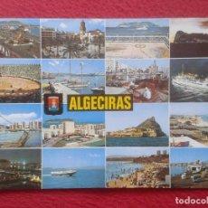 Postales: POST CARD Nº 175 ALGECIRAS CÁDIZ DIVERSOS ASPECTOS PLAZA DE TOROS, PEÑÓN DE GIBRALTAR...ETC VER FOTO. Lote 205699437