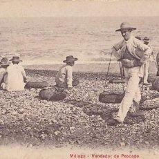 Postales: MALAGA VENDEDOR DE PESCADO. ED. PZ Nº 10602. CIRCULADA EN 1907. Lote 205840740