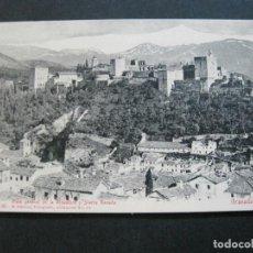 Postales: GRANADA-VISTA GENERAL DE LA ALHAMBRA Y SIERRA NEVADA-R.GARZON FOTO-POSTAL ANTIGUA-(70.952). Lote 206283625