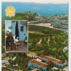 Postales: VISTA AEREA Y BARBACOA, HOTEL MIJAS, MIJAS (MÁLAGA) ED GERICOLOR 1980. SIN CIRCULAR.. Lote 206526148