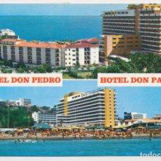 Postales: HOTELES DON PEDRO Y DON PABLO, TORREMOLINOS (MÁLAGA). FOTO ANTONIO 1977. CIRCULADA CON SELLO.. Lote 206986082