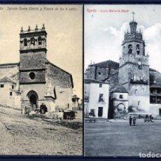 Postales: DOS POSTALES DE RONDA(MALAGA)-IGLESIA SANTA CECILIA Y SANTA MAIA LA MAYOR-NUEVAS SIN CIRCULAR .. Lote 207259813