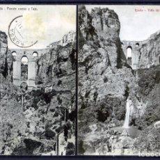 Postales: DOS POSTALES DE RONDA(MALAGA)-PUENTE NUEVO Y TAJO LA PRIMERA-VISTA DEL TAJO LA SEGUNDA .. Lote 207261705