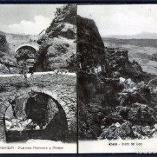 Postales: DOS POSTALES DE RONDA(MALAGA)-PUENTES ROMANO Y ARABE LA PRIMERA-FONDO DEL TAJO LA SEGUNDA .. Lote 207264132