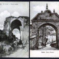 Postales: DOS POSTALES DE RONDA(MALAGA)-EL CRISTO , PUERTA ARABE Y PUERTA ROMANA-NUEVAS SIN CIRCULAR .. Lote 207265106