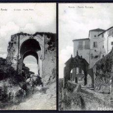 Postales: DOS POSTALES DE RONDA(MALAGA)-EL CRISTO , PUERTA ARABE LA PRIMERA-PUERTA ROMANA LA SEGUNDA .. Lote 207266341