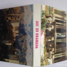 Postales: ASI ES GRANADA - LIBRETO 24 MINI POSTALES - 1985. Lote 207603150