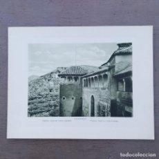 Postales: GRAN FOTOGRAFIA/FOTOTIPIA IMPRESA ALHAMBRA GRANADA FOTO OTTO WUNDERLICH,. Lote 208178193