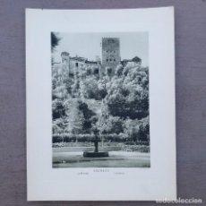 Postales: GRAN FOTOGRAFIA/FOTOTIPIA IMPRESA ALHAMBRA GRANADA FOTO OTTO WUNDERLICH. Lote 208180161